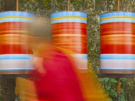 jochen-schlenker-buddhist-monk-passing-prayer-wheels-mcleod-ganj-dharamsala-himachal-pradesh-state-india-asia