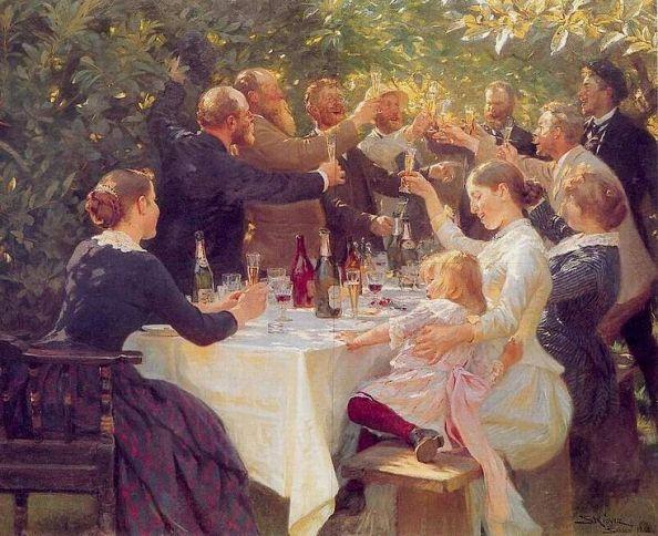 734px-PS_Krøyer_-_Hip_hip_hurra!_Kunstnerfest_på_Skagen_1888